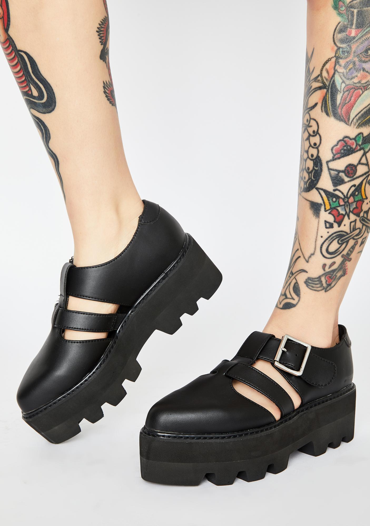 T.U.K. Big Buckle Dino Lug Sandals