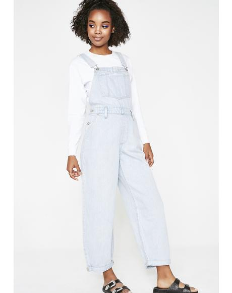 Baggy Denim Overalls