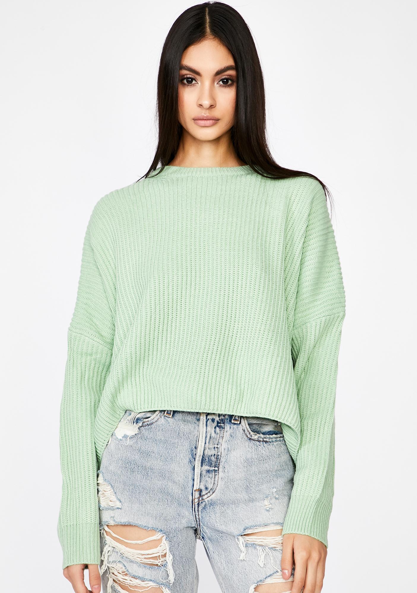 Dank Realer Than Real Crop Sweater