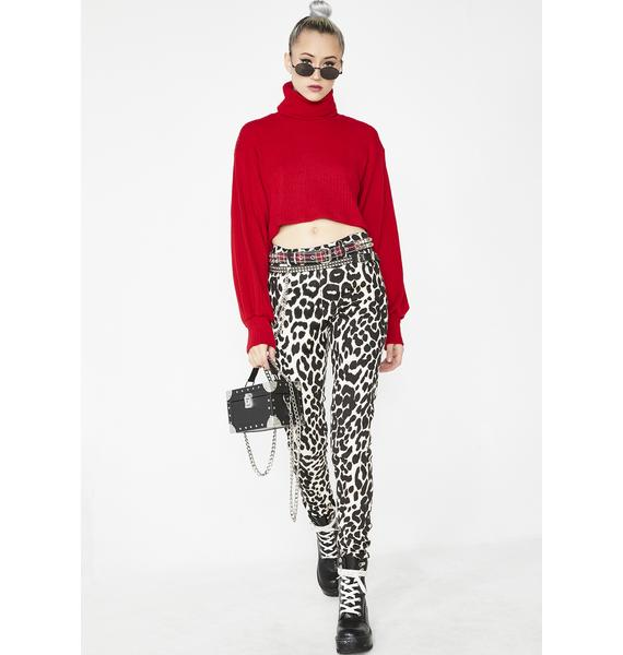 Motel Nizer Balloon Sleeve Crop Jumper