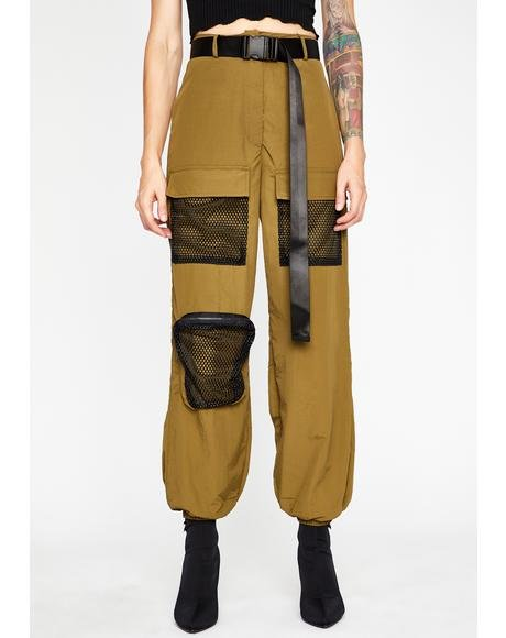 Olive Heavy Heat Cargo Pants