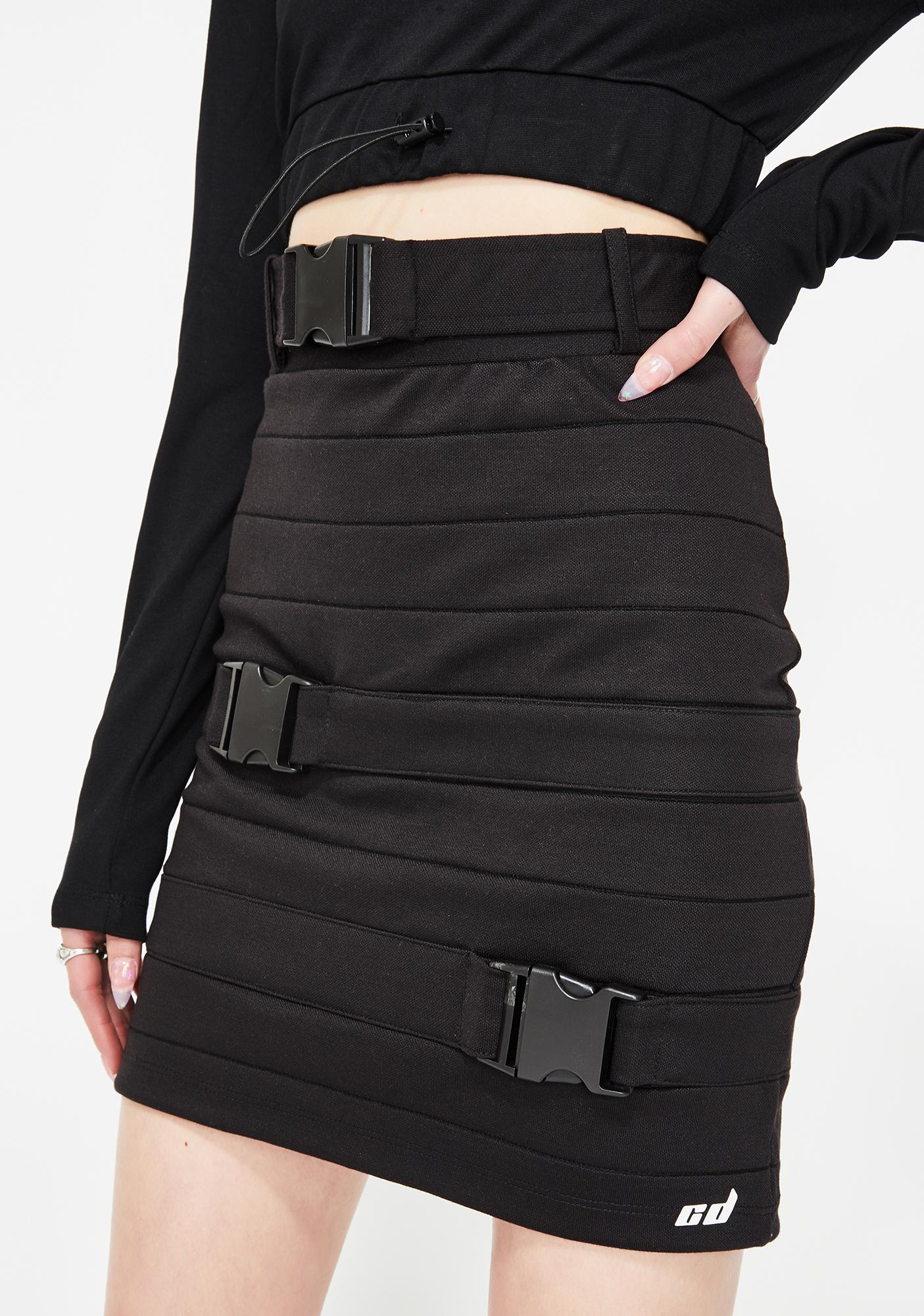 Criminal Damage Buckle Detail Mini Skirt