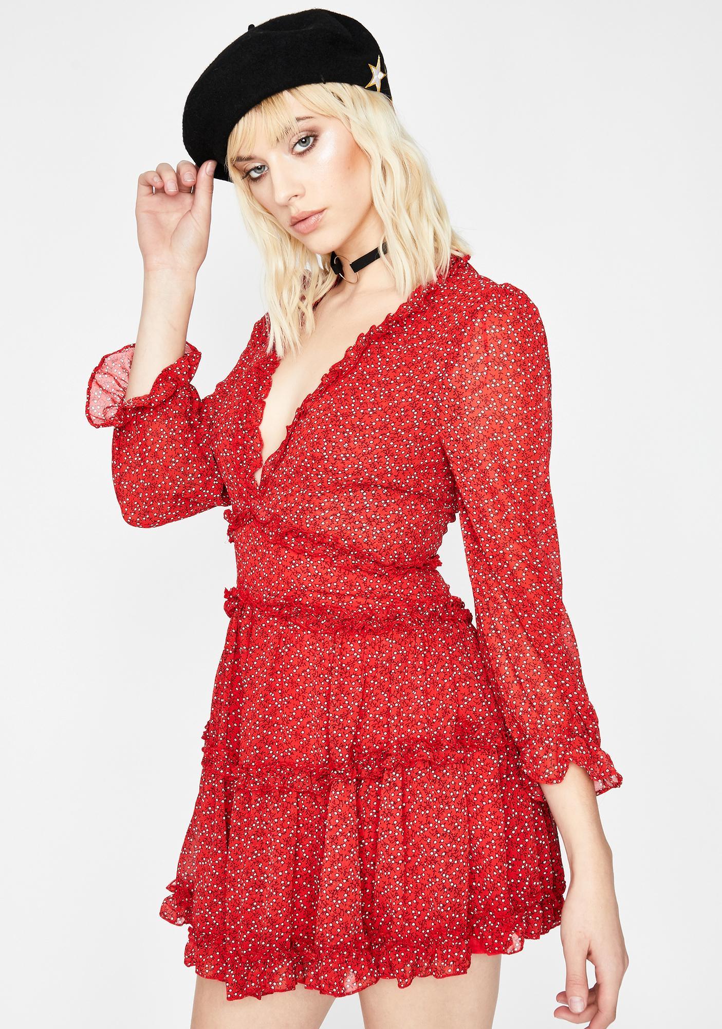 Scarlet Runaway Roadie Ruffle Dress