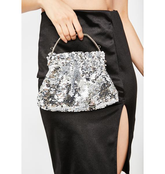 Platinum Luxxe Lifestyle Sequin Clutch
