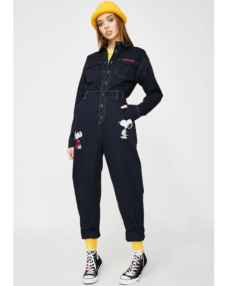 x Peanuts Denim Boiler Suit