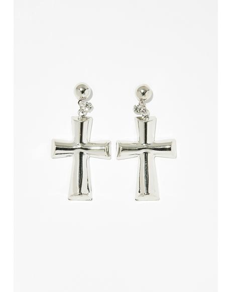 Holy Hottie Cross Earrings
