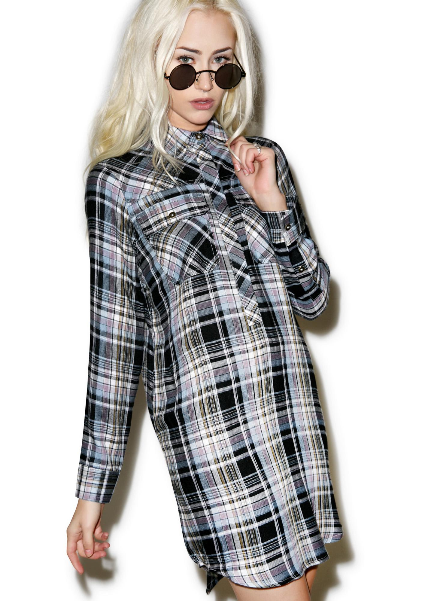 Tai Flannel Shirt Dress Dolls Kill