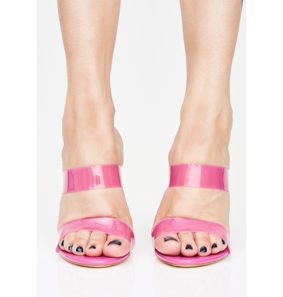 Bubblegum Siren Clear Heels
