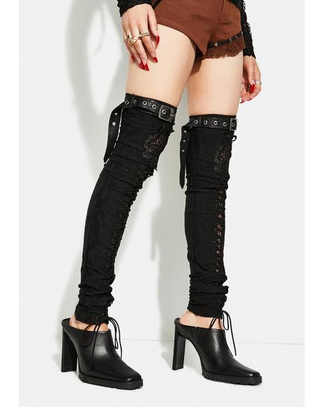 Gorgeous Gothic Leg Warmers
