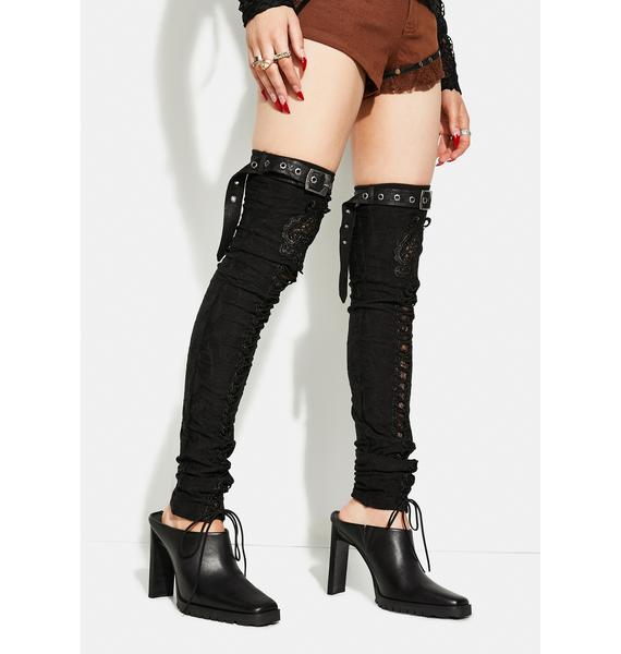 Punk Rave Gorgeous Gothic Leg Warmers