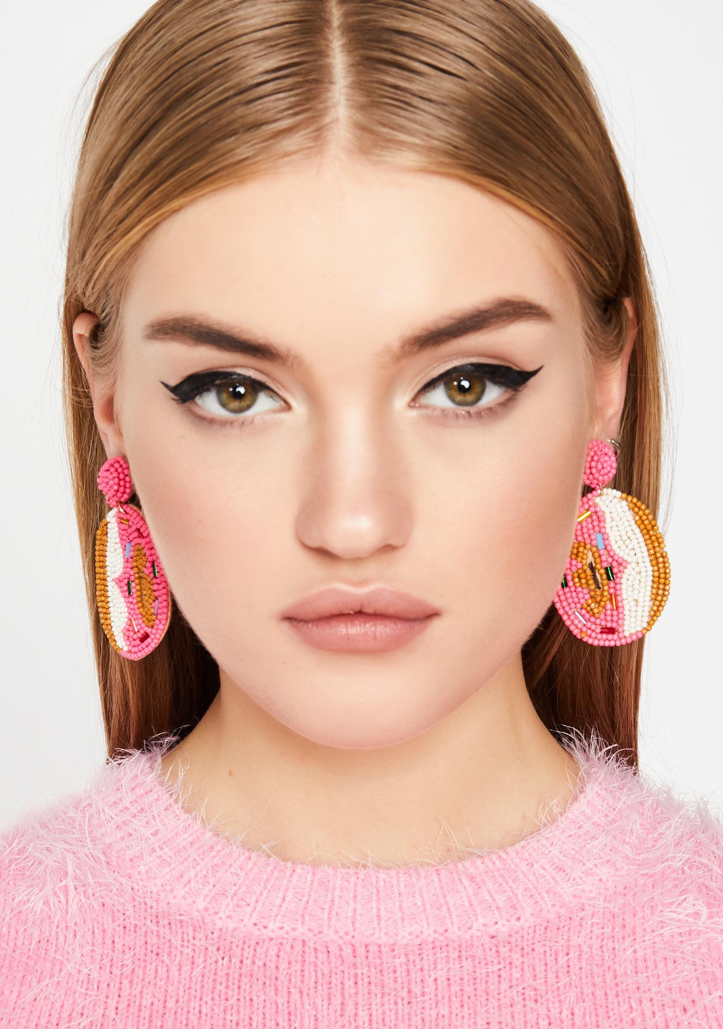 Donut Talk To Me Beaded Earrings