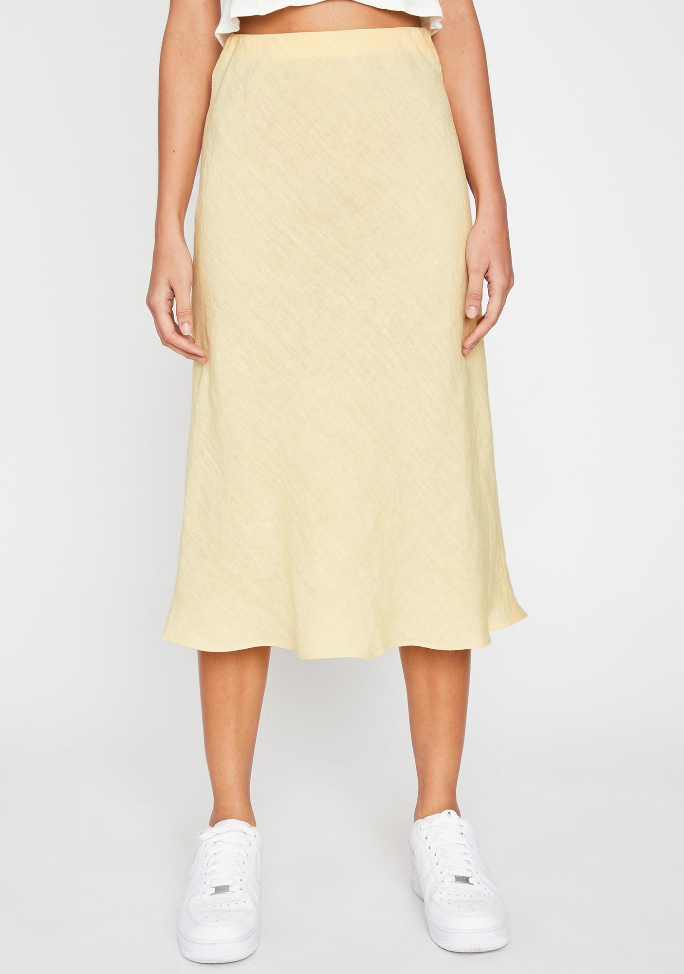 Buttermilk Rose Water Midi Skirt