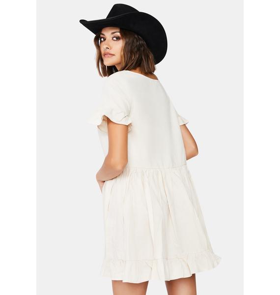 Calm A Sure Thing Babydoll Dress