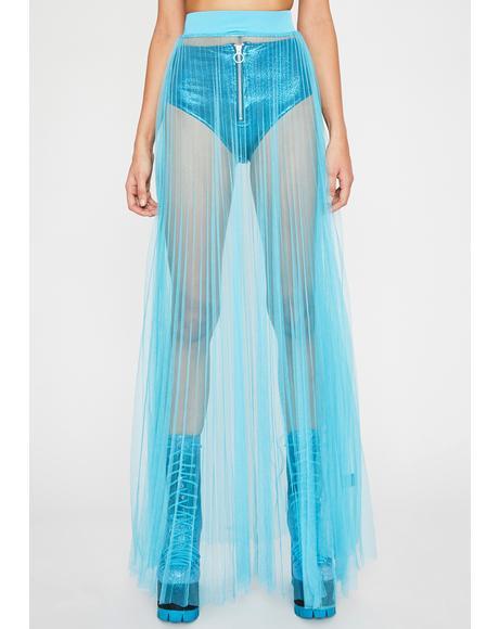 Aqua Fallen Lover Maxi Skirt