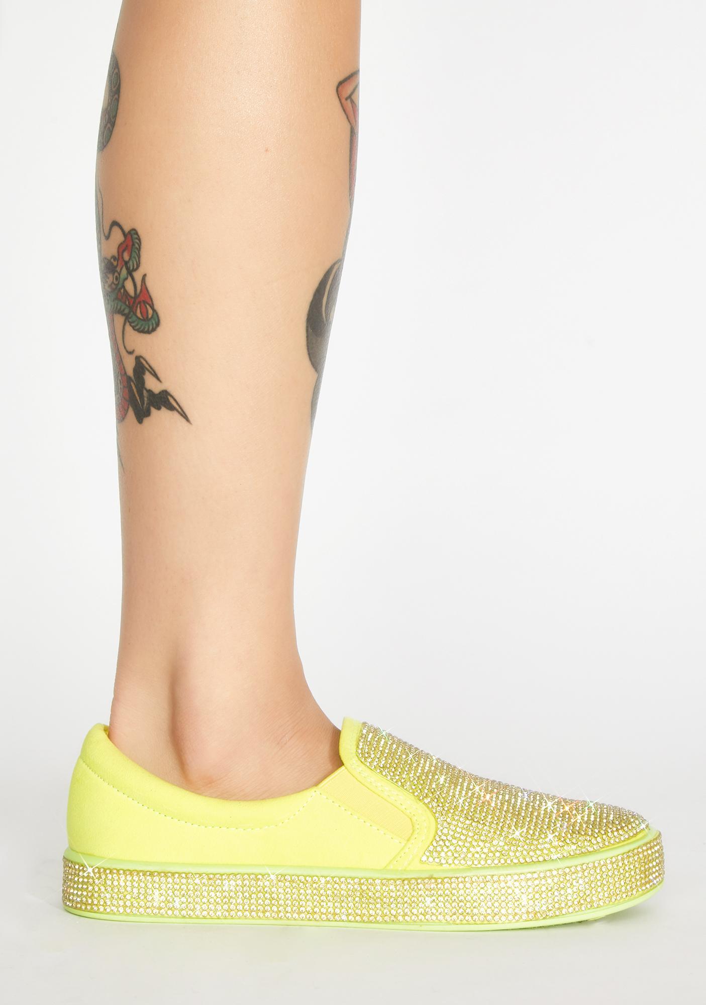 Bizarre Bling Slip On Sneakers