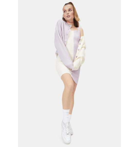 Hello Honey Two Tone Knit Cardigan