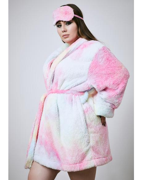 Sweet Her Pixie Moonshine Tie Dye Robe Set