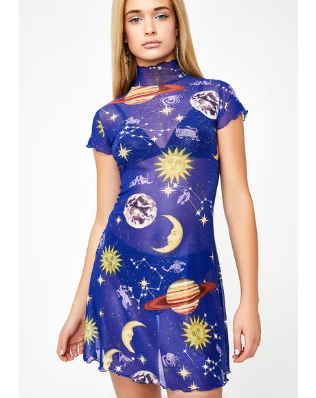 Astro World Mesh Dress