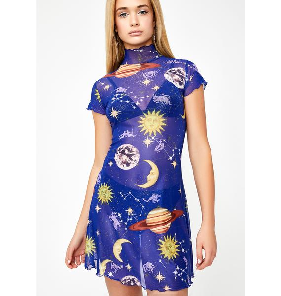 HOROSCOPEZ Astro World Mesh Dress
