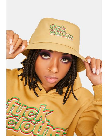 Beige Fuck Clothes Bucket Hat