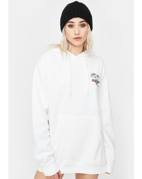White Whatever 4Ever Graphic Hoodie