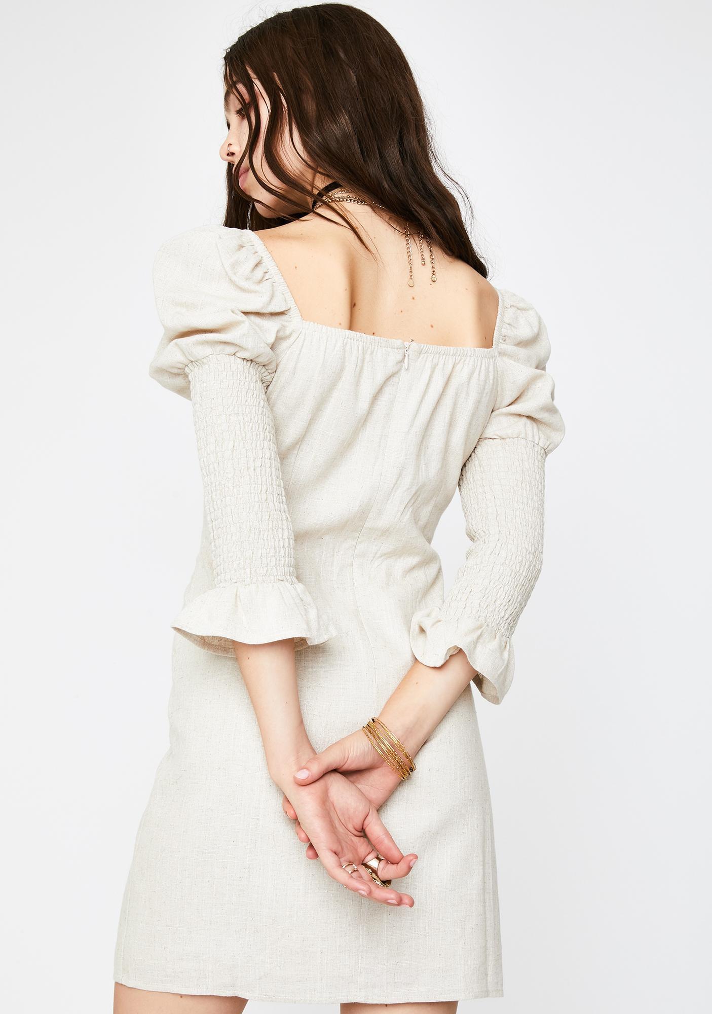 Glamorous Stone Front Tie Mini Dress
