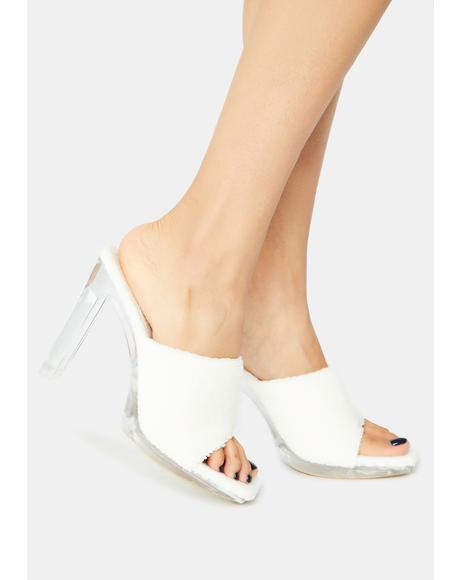 Bliss When I Come Around Terry Peep Toe Heels
