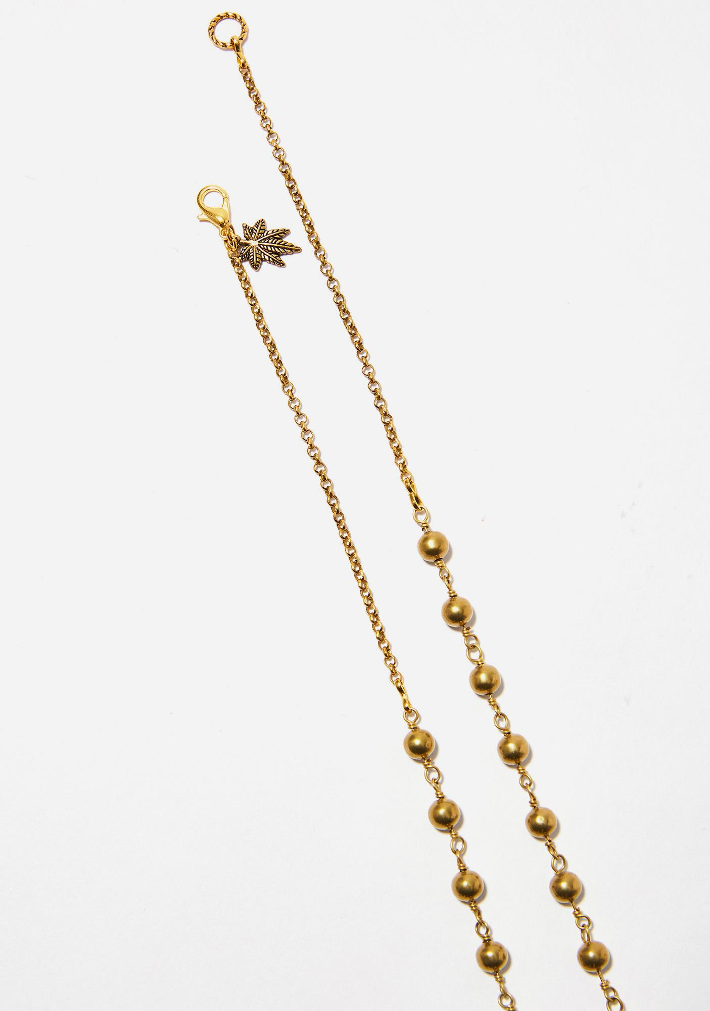 Blunted Objects True Religion Leaf Rosary
