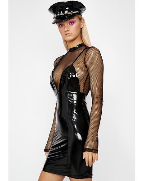 Night Commander Vinyl Dress