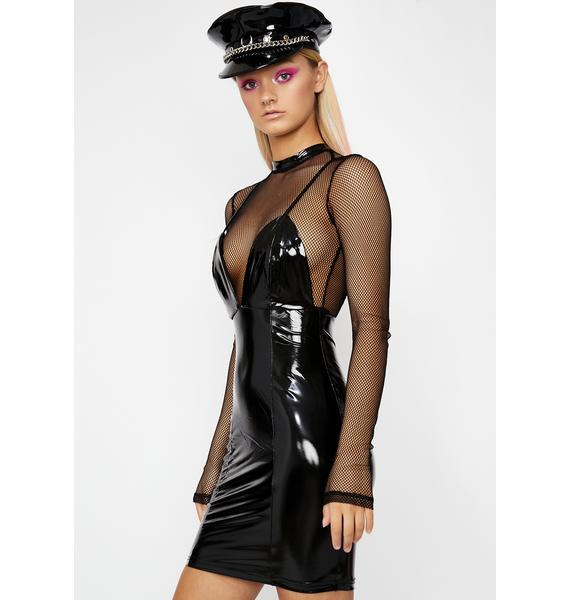 Night Commander Vinyl Dress
