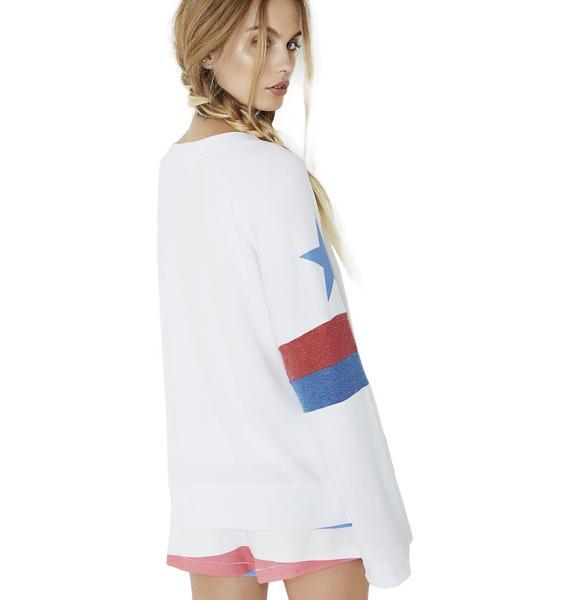 Wildfox Couture Star Spangled Gidget Beach Jumper