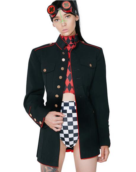Vintage Button Up Military Jacket