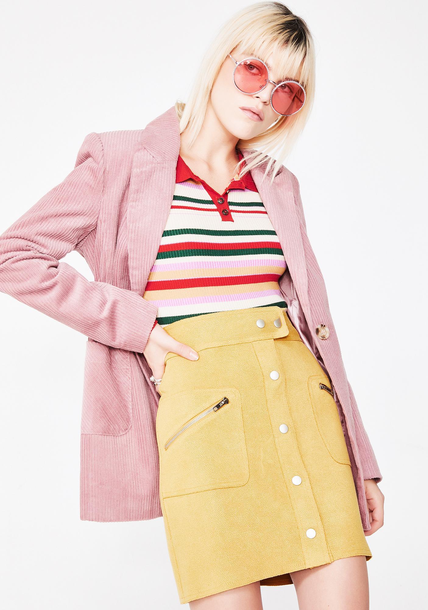 Honey Punch The Flip Side Mini Skirt