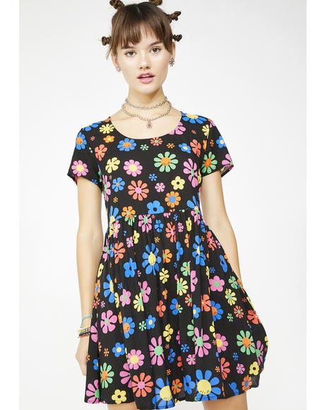 Flower Power Babydoll Dress