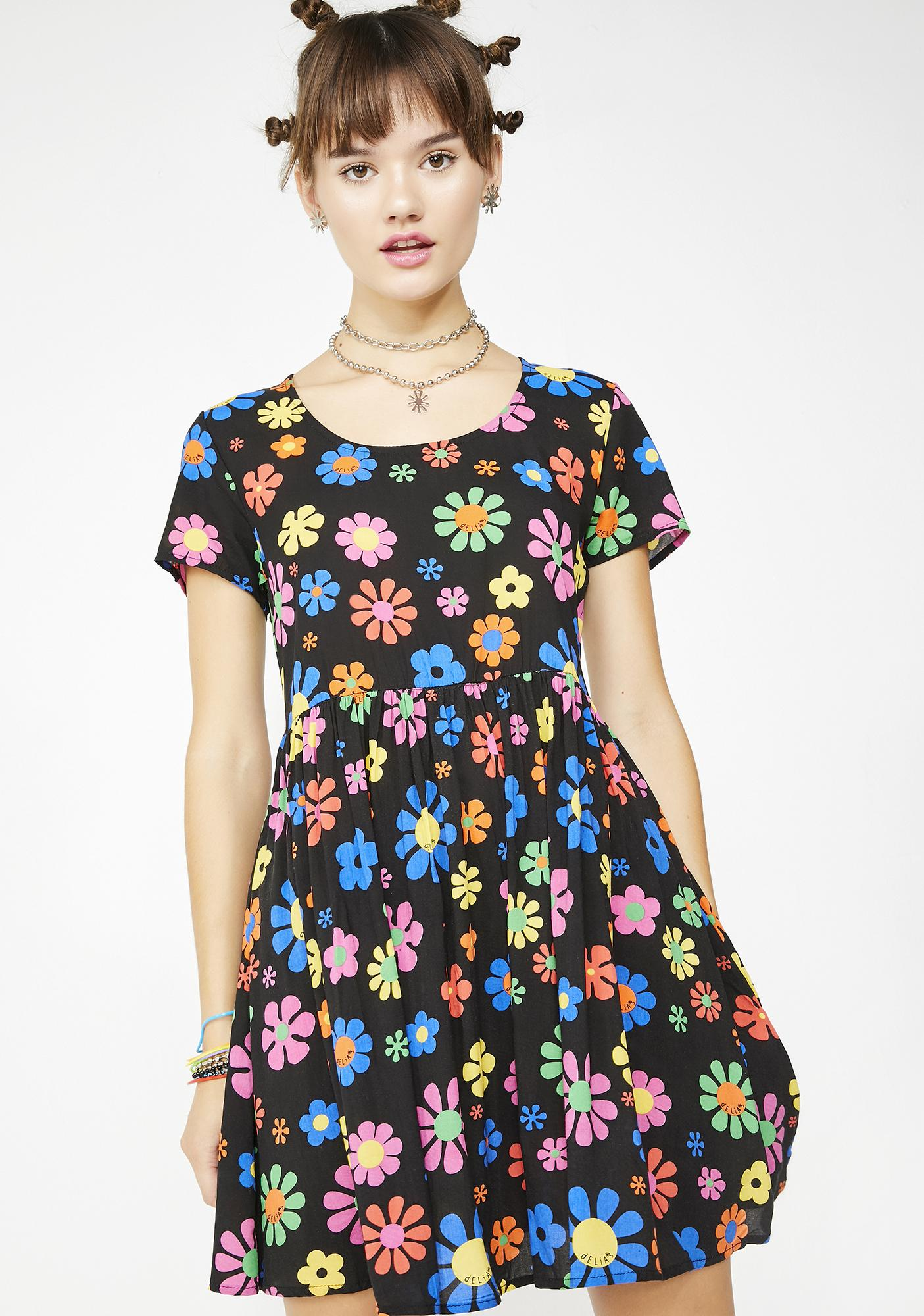 71e0233c80 dELiA*s by Dolls Kill Flower Power Babydoll Dress | Dolls Kill