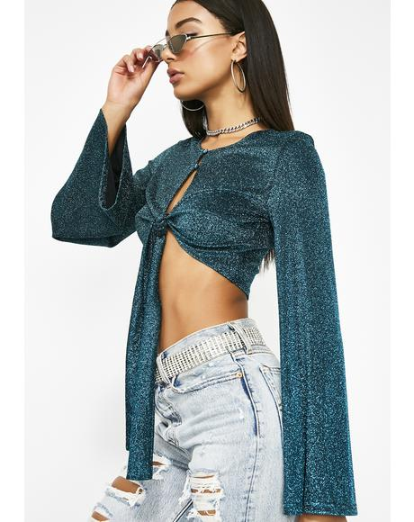 Shimmer On Sis Crop Top