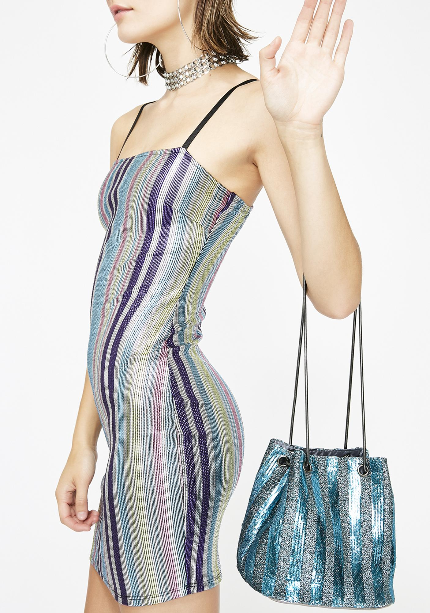 Stop For Sparkle Bucket Bag