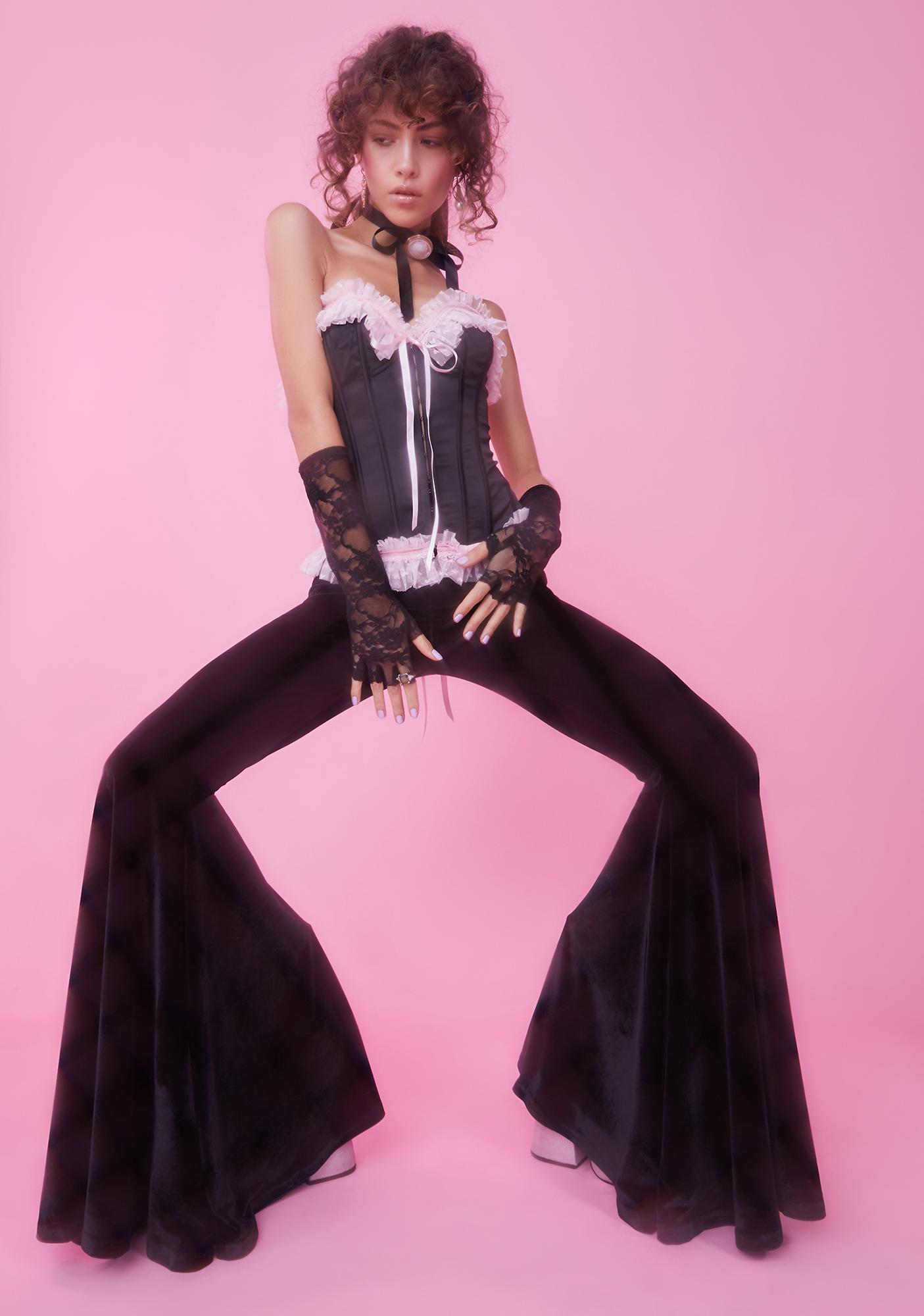 Sugar Thrillz Stroke Of Midnight Velvet Flares