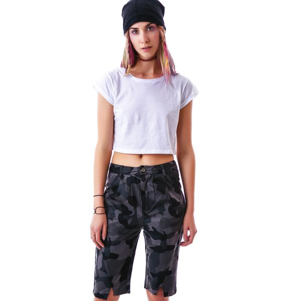 HLZBLZ x Belle of the Brawl What What Wool Camo Shorts