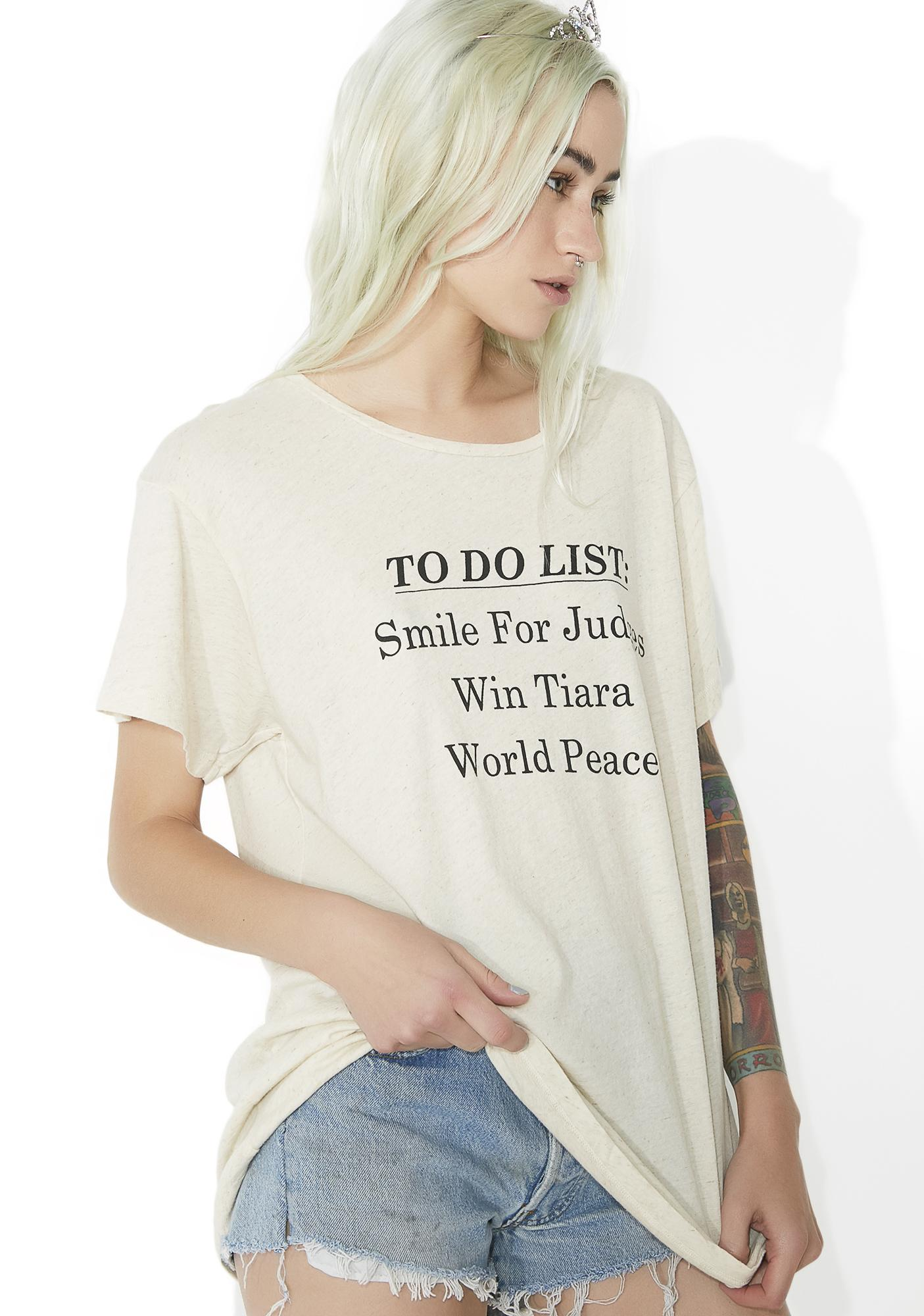 Wildfox Couture Pageant List Tee