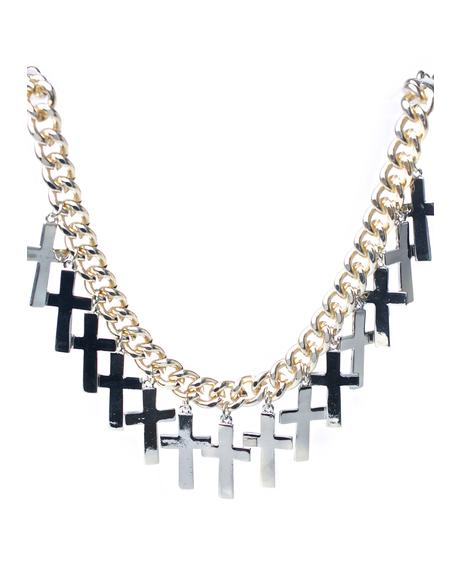 Overload Cross Necklace