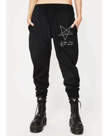 Satan Loves You Joggers