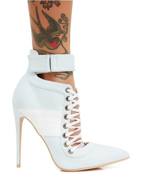 Icy Fifi Lace Up Stiletto Ankle Boots