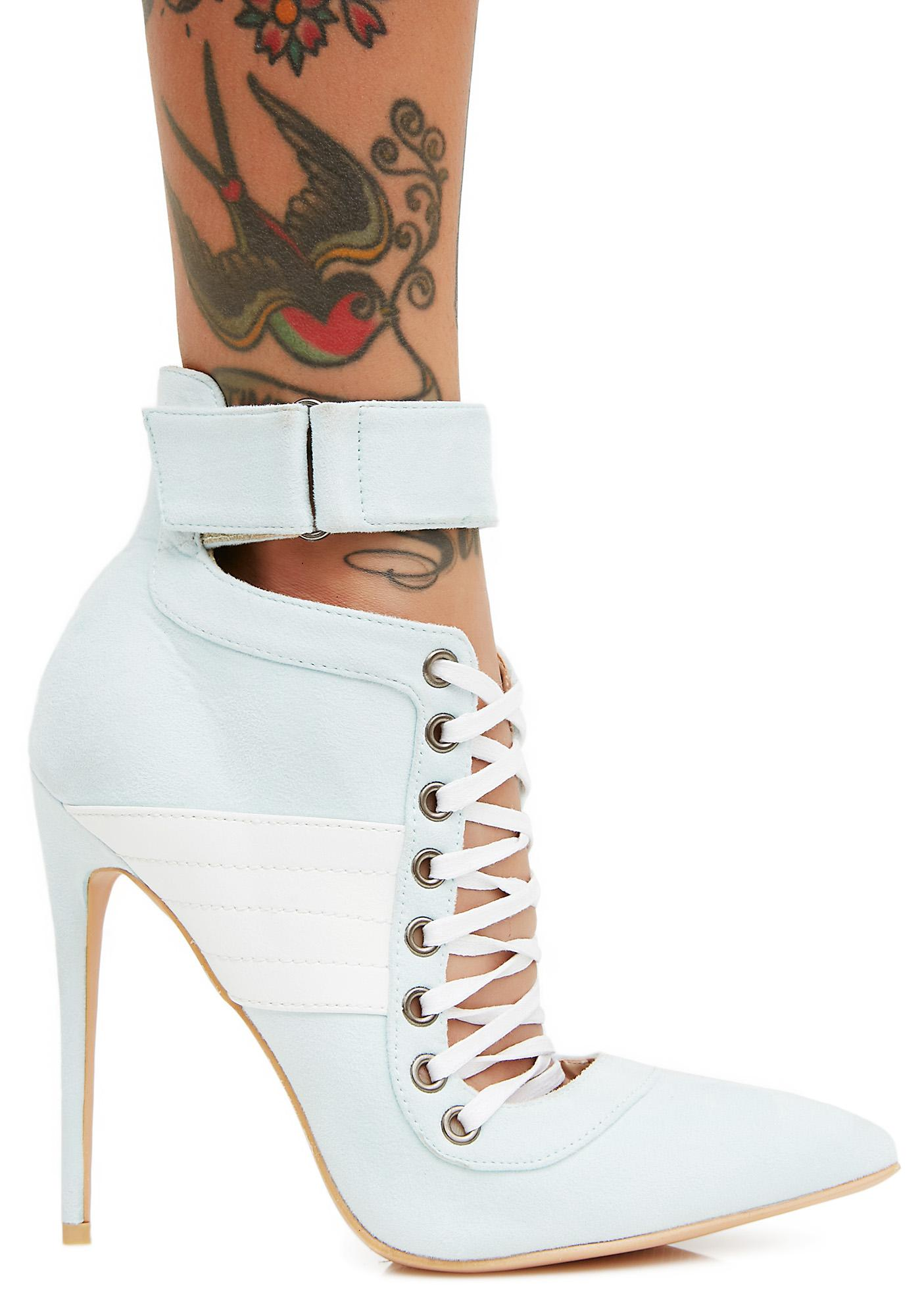 Public Desire Icy Fifi Lace Up Stiletto Ankle Boots