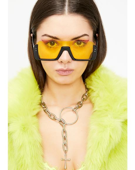 Honey Cut Off Oversized Sunglasses