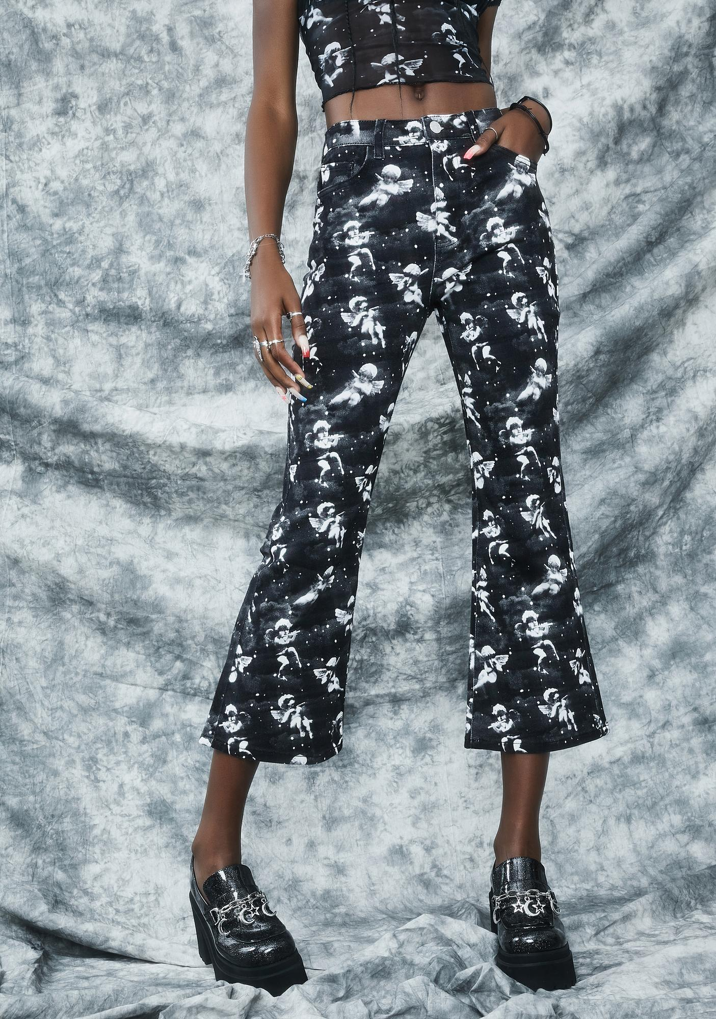 dELiA*s by Dolls Kill Unholy Spirit Printed Twill Jeans