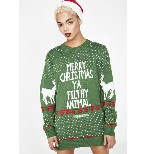 Filthy Animal Holiday Sweater