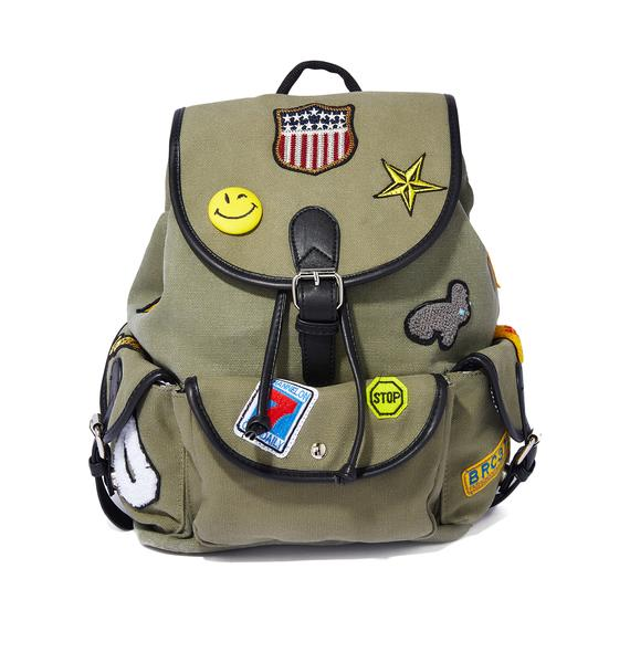 Fly Clique Canvas Backpack