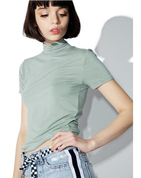 Front Street Mock Neck Top