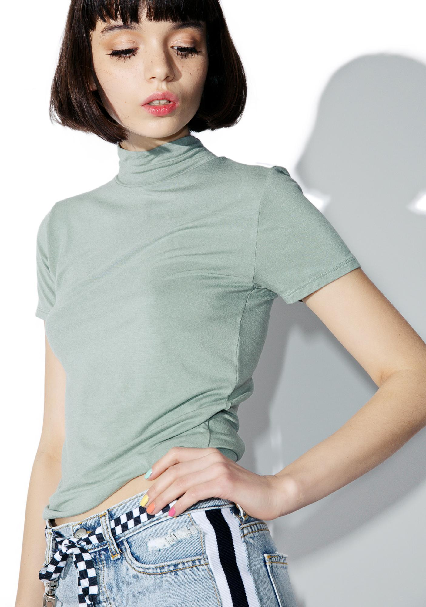 Obey Front Street Mock Neck Top